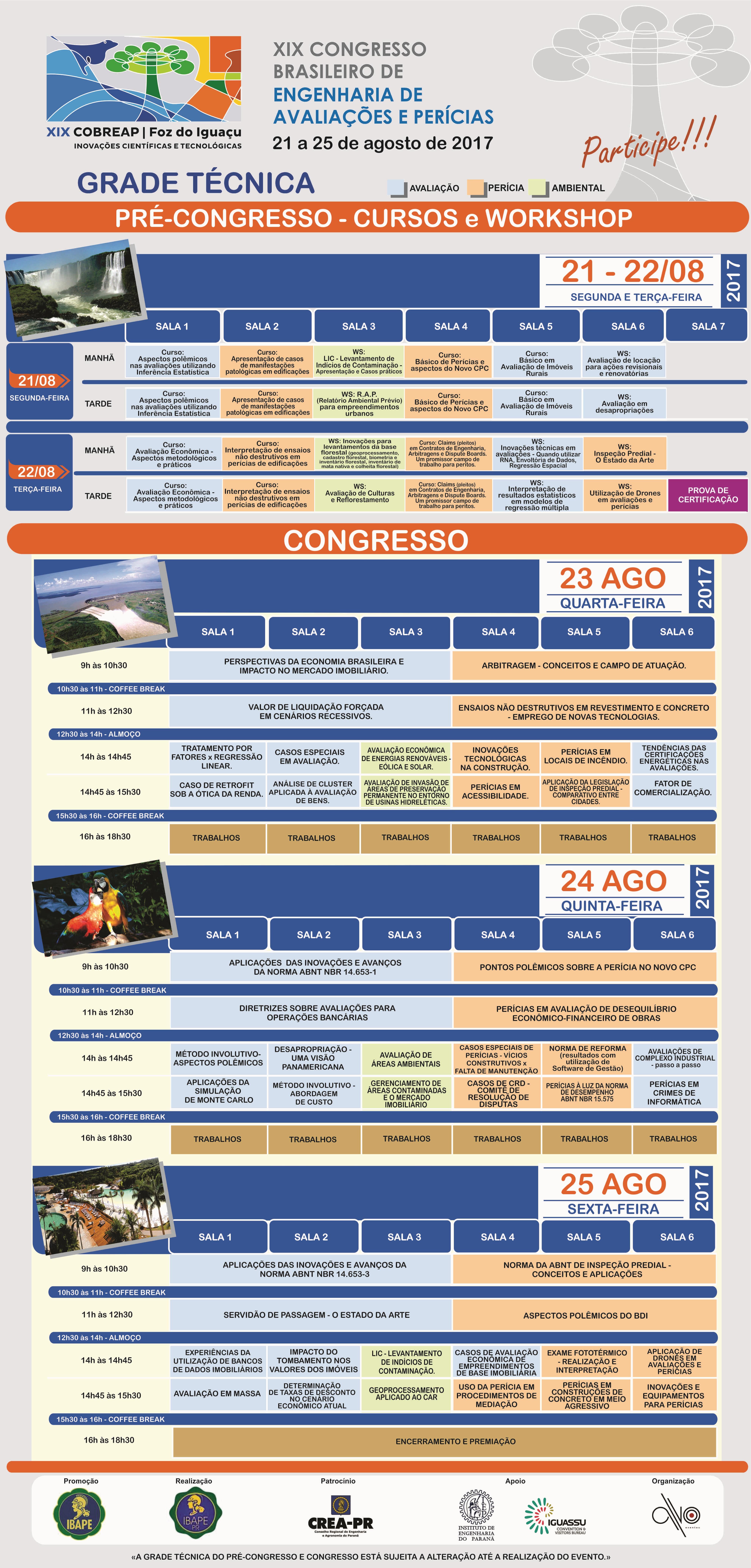 COBREAP - Grade Tecnica Congresso e Pre Congresso